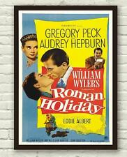Vintage Roman Holiday Audrey Hepburn Movie Film Poster Print Picture A3 A4