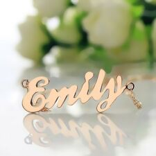 Customized Emily Style Name Necklace 18k Rose Gold Plated Cursive Name Jewelry