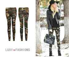 NEW LADIES WOMENS CAMOUFLAGE CAMO ARMY MILITARY PRINT TROUSERS PANTS LEGGINGS