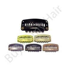 15 x 2.8 cm Hair Extensions Snap Weave  Weft  Clips With Silicone Grip