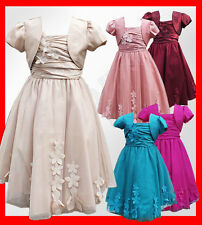 Beautiful Flower Girl Dresses with Bolero Wedding Prom Dresses Age 1 to 14 YEARS