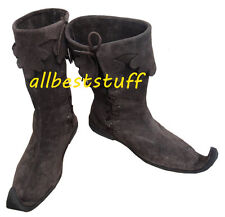 Medieval Leather Boots Rough Brown shoes, Re-enactment Mens Shoe
