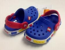 Crocs Kids Crocband LEGO Clog Boys Blue Red C6/7 C6/7 C8/9 C10/11 C12/13 J1 J2 3