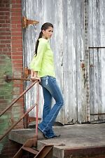 NEW! Rock 47 by Wrangler ladies jeans - ultra low rise boot cut