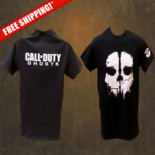Call of Duty Ghosts T-SHIRTS (New) BLACK, SALE, POPULAR DESIGN