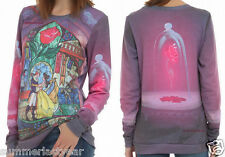 "JUNIORS ""ROSE"" LONG SLEEVED PULLOVER TOP DISNEY'S BEAUTY AND THE BEAST FREE SHIP"