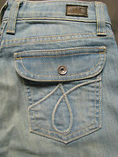 NWT $220 JUICY COUTURE Snap Dragon High Rise Saddle Wide Leg Stretch Jeans
