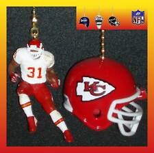 NFL KANSAS CITY CHIEFS RUNNING BACK FIGURE & CHOICE OF HELMET CEILING FAN PULLS