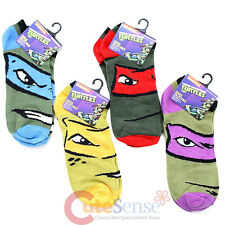 Ninja Turtles Socks Set  TMNT 4 Pair Anklets Socks -Raphael Leonardo Donatello