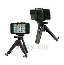 Black Tripod Camera Mount Holder Stand FOR HTC Mobile Cell Phones new