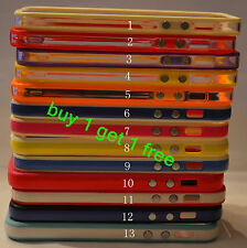 Colorful Bumper Frame TPU Silicone Case for iPhone 5 5S Buy 1 Get 1 Free