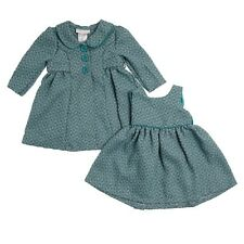 Bonnie Jean Set Baby Girls Boucle Coat Dress Teal Green size 18 24 months new