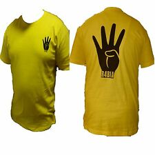 TSHIRT WITH LOGO RABIA R4BIA رابعة EGYPT EGYPTION REVOLUTION Arabic Islamic