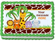 BABY ANIMALS JUNGLE SAFARI Edible image cake topper decoration