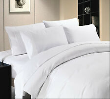 1000TC COMPLETE BEDDING COLLECTION  100% EGYPTIAN COTTON (WHITE SOLID) ALL SIZE