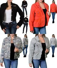 LOT NEW FASHION WOMEN Button Up Jeans JACKET CASUAL CAREER OFFICE Blazer S M L