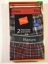 "NIB Hanes 2 Pack Flannel Boxers Men's Size S (28""-30"") - XL (40""-42"")"