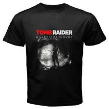 New TOMB RAIDER Popular Action Video Game Men's Black T-Shirt Size S to 3XL
