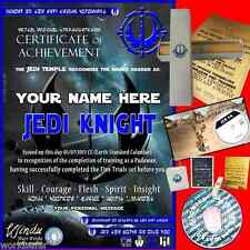 JEDI KNIGHT Certificate PACKAGE + FREE GAME & UPGRADES! STAR WARS memorabilia!