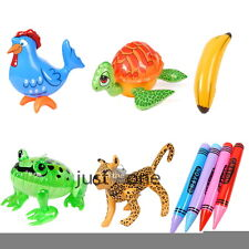 Cute PVC Inflatable Blow up Pool Water Party Toy Ball Activity Prop Multi-Styles
