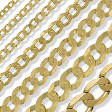 9CT GOLD 16 18 20 22 24 INCH ENGLISH ROPE POW BELCHER CURB FIGARO DC LINK CHAIN