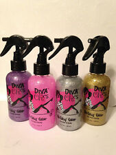 Diva Cheer Chics Be Glitzy Glitter Sparkle Spray for Hair, Body, Clothes-5.2 oz
