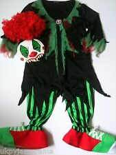 Boys Girls Halloween Carnival Outfit Costume Scary Clown *FREE EUROPEAN POSTAGE*