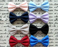 New American Apparel Style Big Cotton Fabric Bow Hair Clip