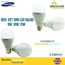 B22/E27 Samsung 9W 12W 15W Dimmable LED Globe Bayonet/Edison Cap Golf Light Bulb