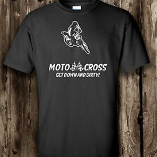 Motocross t shirt Motor sport x bike motorbike men's ladies top stunt rude