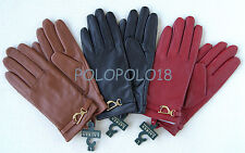 New Ralph Lauren Women Leather Gloves Equestrian Horseshoe S M L XL