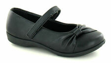 **SALE** Girls BlackSlip On Shoes with Velcro Strap. H2281
