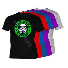 Camiseta Star Wars Coffee XXL- XL- L- M S Size Film DVD T-Shirt 02 Star Wars Tee