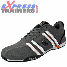 Lonsdale Mens Seneka Racer Casual Lace Up Trainers Shoes Grey * AUTHENTIC *