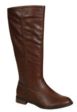 Womens Fashion Knee-High Riding Side Zipper Boots - Apple-02