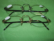 READING GLASSES ND9935/2  1.25 TO 2.75 ROSE GOLD OR GUN  FRAMELESS