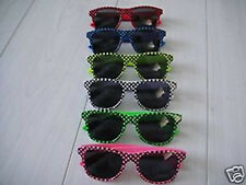Red Blue Yellow White Green Pink cool retro style 80's sunglasses Fancy Dress