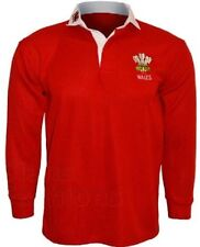 WALES RUGBY SHIRT  RETRO TRADITIONAL CLASSIC BRAND NEW WELSH ALL SIZES  S - XXXL