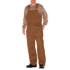 Dickies Insulated Duck Bib Overalls #TB839 BLACK OR BROWN Thick Heavy Tough NWT