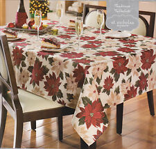 St  Nicholas Square Traditions Tablecloth, Flowers Table Cloth Floral Flora