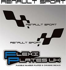 X2 RENAULT SPORT RACING CHEQUERS STICKERS / DECALS / GRAPHICS 172 182 225 CLIO