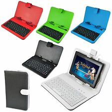 """PU Leather Bag Stand Micro USB Keyboard Case for 7"""" Inches Android 4.2 Tablet PC"""