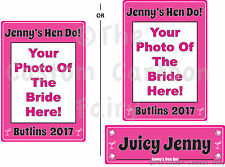 Personalised Iron on Photo T-shirt Transfer for Hen Do - A5, A4 & Name Plates