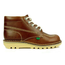 Mens Kickers Boots Kick Hi Leather Dark Tan Boots