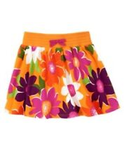 GYMBOREE WILD FOR ZEBRA ORANGE FLOWER PRINT KNIT SKORT 3 4 5 6 7 8 9 10 12 NWT