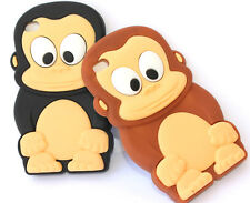 for iPod Touch 4th Gen - Cute Baby Monkey Soft Silicone Rubber Skin Case Cover