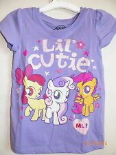 My Little Pony LIL CUTIE Girls Shirt Tee Spring Lilac Purple 3T 4T 5T Sparkly