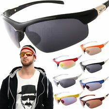 X-Loop Sports Wrap Sunglasses Mens Cycling Fishing Golfing Biking Glasses