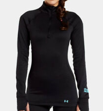 Under Armour Women's Base 3.0 1/4 Zip Long Sleeve Base Layer (Black) 1239712-001