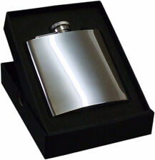 Personalised, Stainless Steel 6oz Hip Flask Any Message Engraved Free